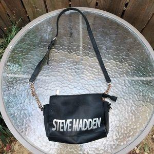 Steve Madden Black Shoulder Bag Purse